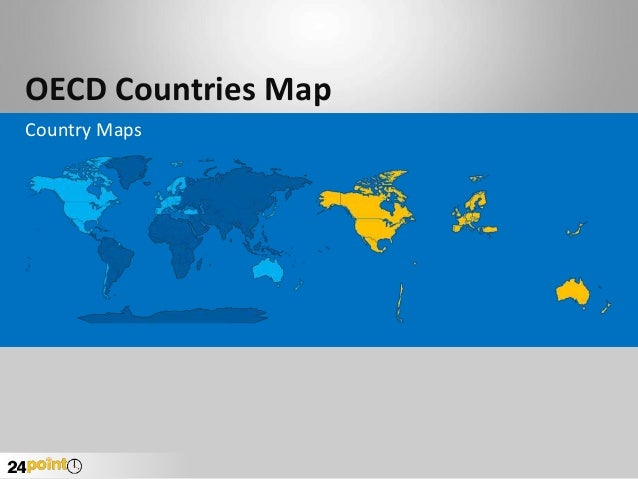 OECD Countries Map Country Maps