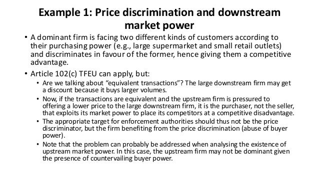 a discussion on the price of discrimination 1for further discussion, see phlips (1983, pp 5-7) ch  there is an incentive to engage in price discrimination for to say that price is in excess of marginal cost is to say that there is someone who is willing to pay more than the cost of production for an extra unit of the.