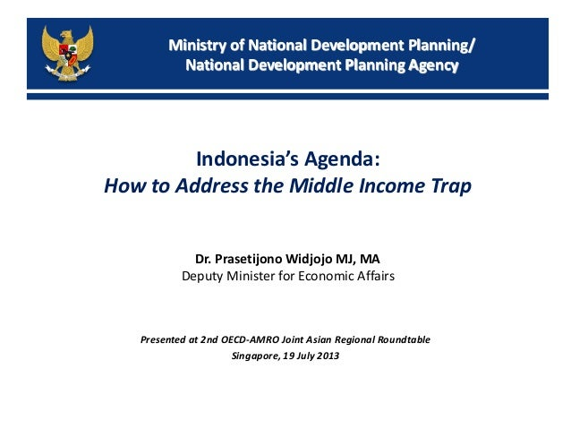 Ministry of National Development Planning/ National Development Planning Agency Indonesia's Agenda: How to Address the Mid...