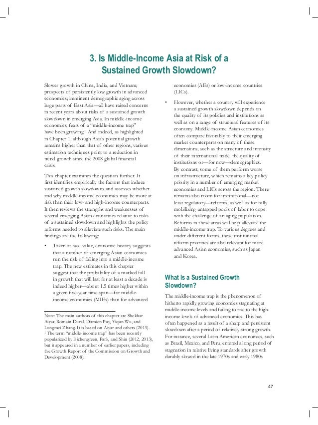 47 3. Is Middle-Income Asia at Risk of a Sustained Growth Slowdown? Slower growth in China, India, and Vietnam; prospects ...