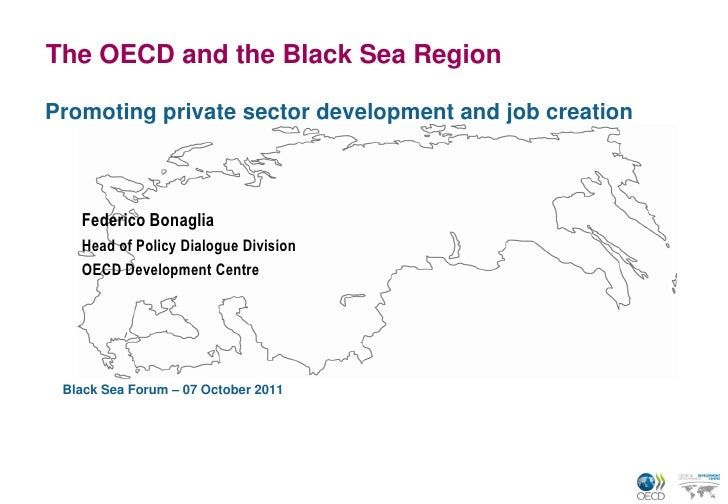 The OECD and the Black Sea RegionPromoting private sector development and job creation   Federico Bonaglia   Head of Polic...