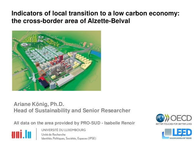 08-Jul-2013 1 Indicators of local transition to a low carbon economy: the cross-border area of Alzette-Belval Ariane König...