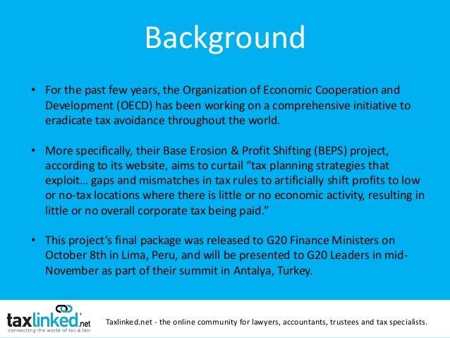 Taxlinked OECD BEPS Webinar! Slide 2