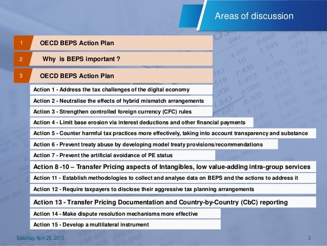 B E P S Action Plan Released By Oecd