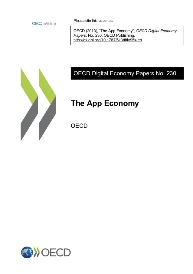 """Please cite this paper as: OECD (2013), """"The App Economy"""", OECD Digital Economy Papers, No. 230, OECD Publishing. http://d..."""