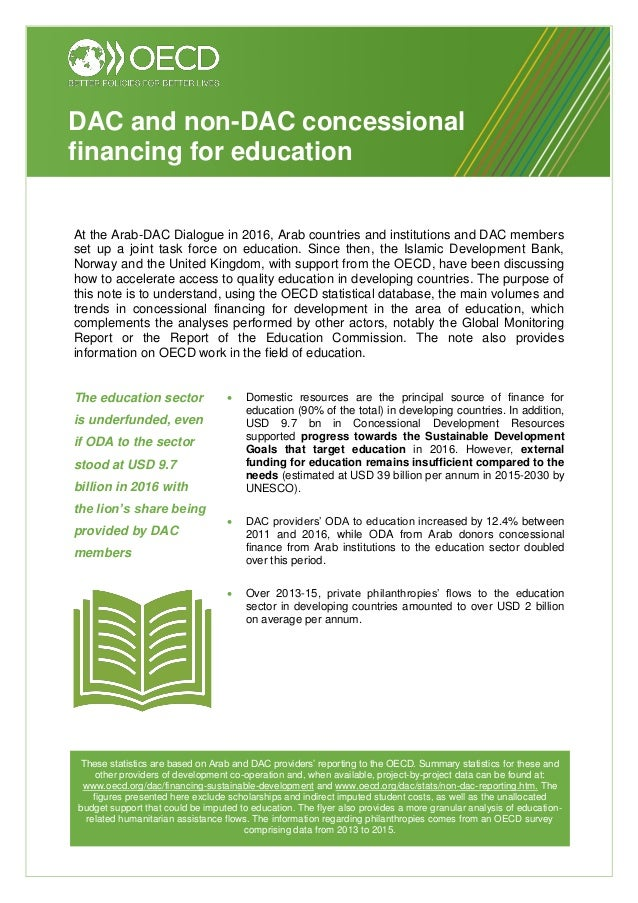 At the Arab-DAC Dialogue in 2016, Arab countries and institutions and DAC members set up a joint task force on education. ...