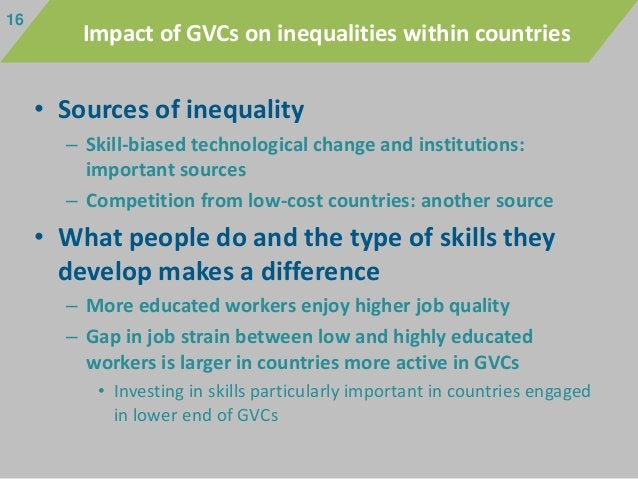 • Sources of inequality – Skill-biased technological change and institutions: important sources – Competition from low-cos...
