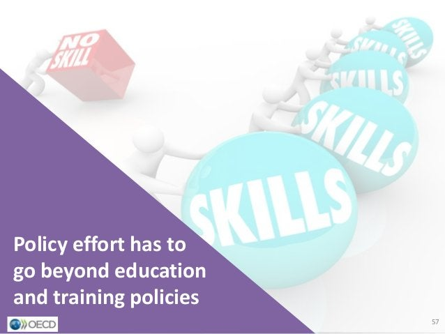 Implications for education and training policies Policy effort has to go beyond education and training policies 57