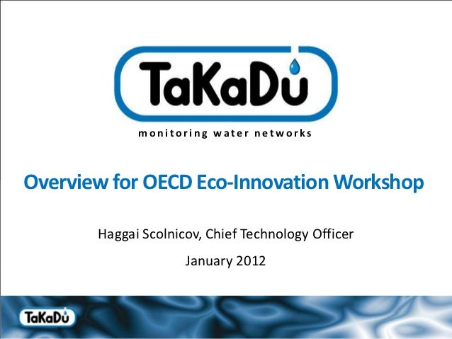 monitoring water networksOverview for OECD Eco-Innovation Workshop        Haggai Scolnicov, Chief Technology Officer      ...