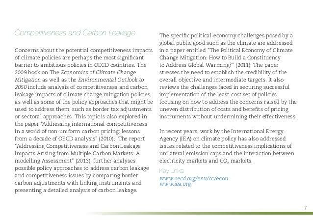 Climate change mitigation essay