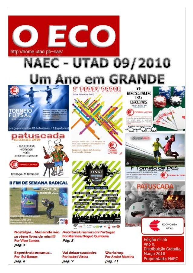 Edição nº 56    Março 2010                             O ECO0                  ecoutad@gmail.com