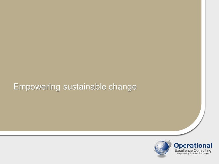 Empowering sustainable change
