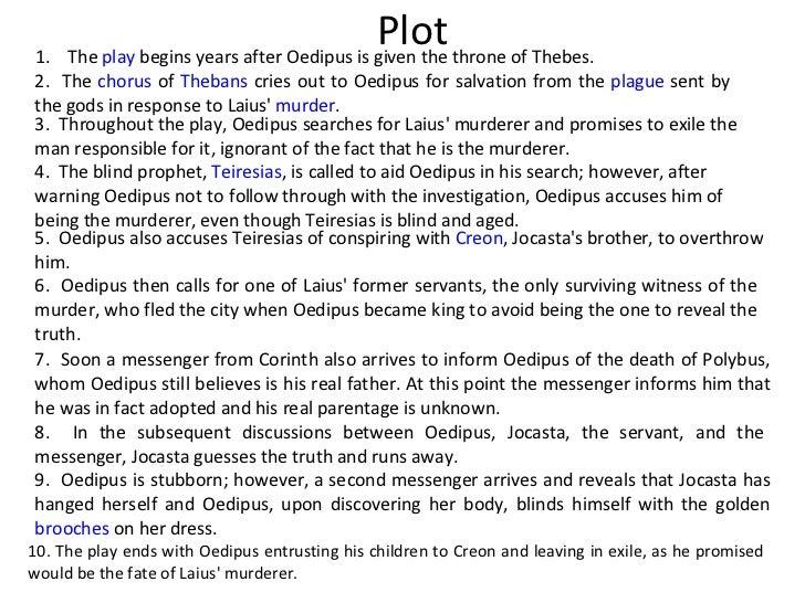Oedipus rex play summary