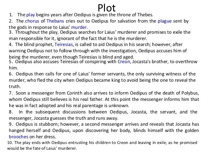 A character analysis of the story of oedipus the king