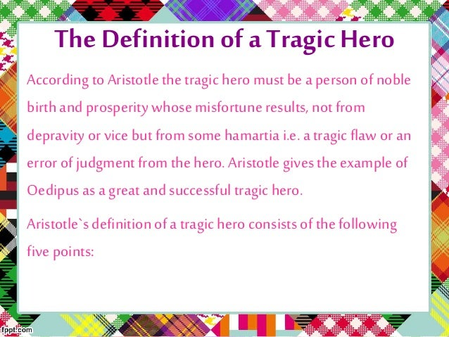 Tragic Hero Example