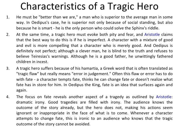 characteristics of a tragic hero