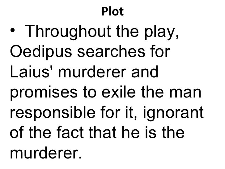 oedipus rex detailed summary
