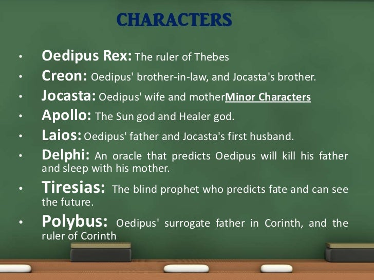 a comparison of the characters of oedipus and job Once oedipus dies, antigone has to find someone else to be blindly loyal to it's not a job we would want when these two willful characters collide.