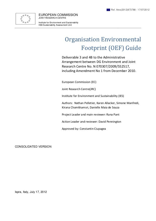 Ref. Ares(2012)873788 - 17/07/2012                    EUROPEAN COMMISSION                    JOINT RESEARCH CENTRE        ...