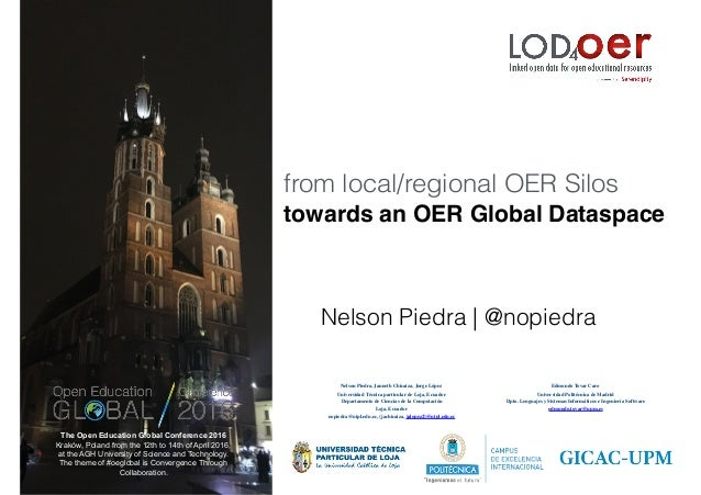 from local/regional OER Silos towards an OER Global Dataspace The Open Education Global Conference 2016 Kraków, Poland fro...