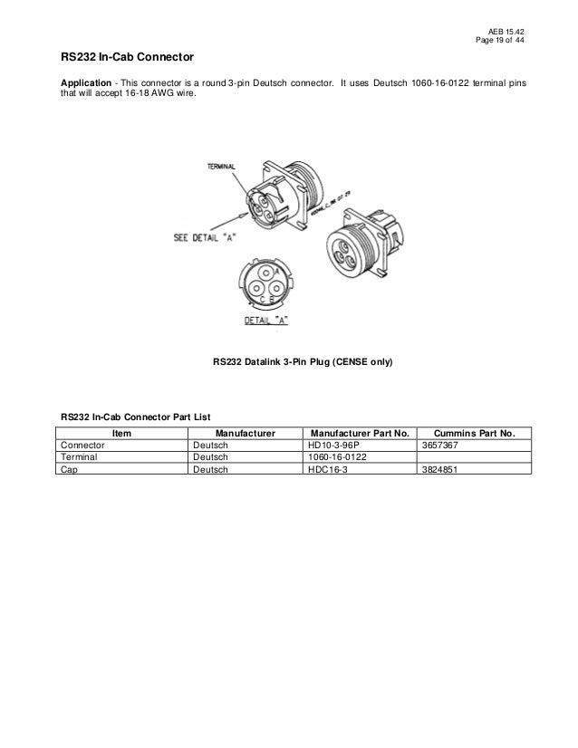 [DIAGRAM_38IU]  Oem ecm cummins | Deutsch Connector Wiring Diagram |  | SlideShare