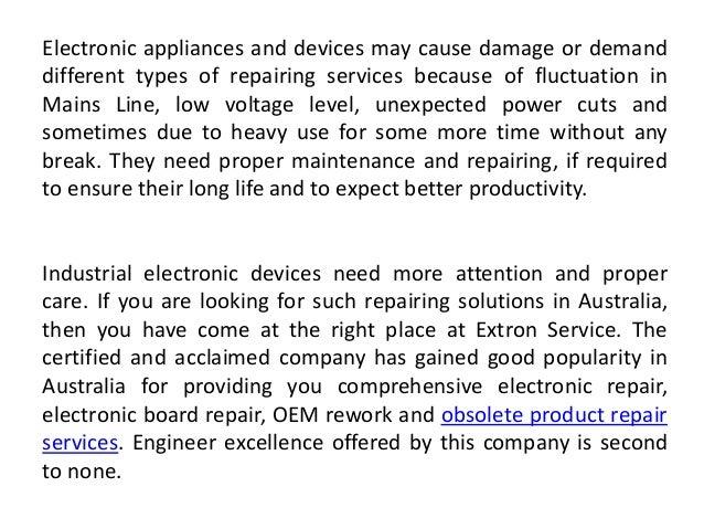 Oem Rework and Obsolete Product Repairs - 웹