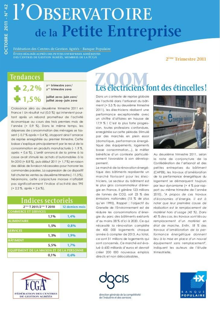 l'ObservatoireOCTOBRE 2011 - N° 42                                         de la                     Petite Entreprise    ...