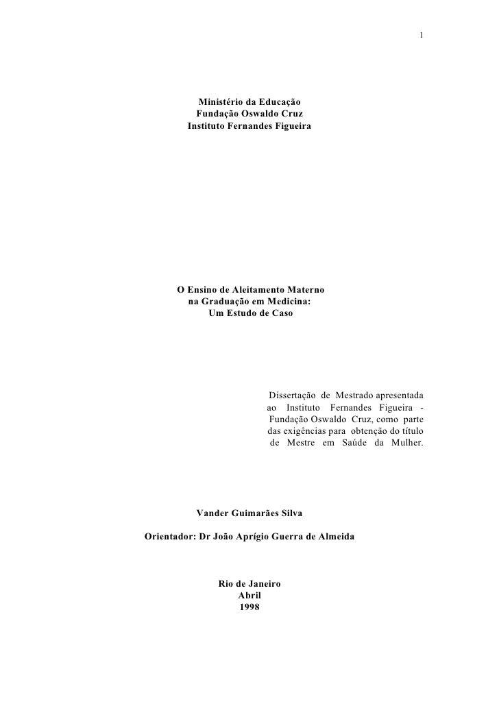 1                Ministério da Educação            Fundação Oswaldo Cruz          Instituto Fernandes Figueira           O...