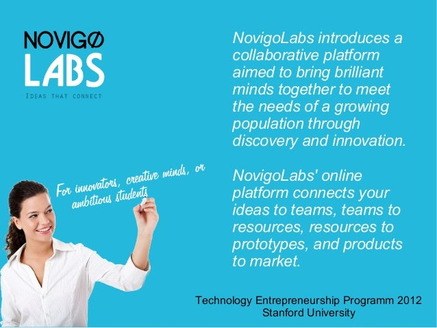 NovigoLabs introduces a      collaborative platform      aimed to bring brilliant      minds together to meet      the nee...