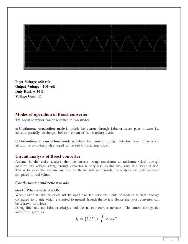 Simulation of Boost Converter Using MATLAB SIMULINK
