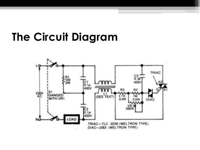 light dimmer circuit using diac and triac rh slideshare net Dimmer Switch Circuit Diagram electronic light dimmer schematic
