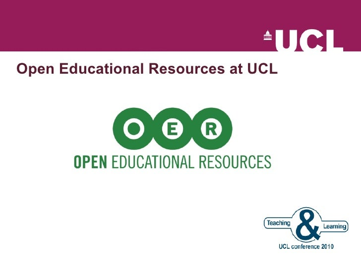 Open Educational Resources at UCL