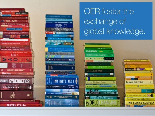 OER foster the exchange of global knowledge.