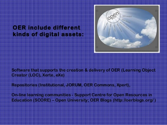Learning content including: Entire course content, course materials, content modules Learning objects (quizzes, crossword ...