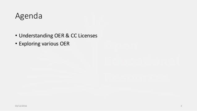 Understanding OER and CC Licenses Slide 3