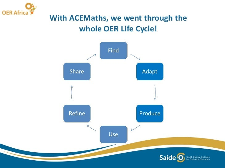 With ACEMaths, we went through the whole OER Life Cycle!