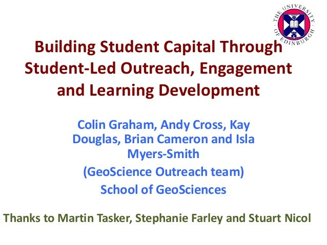 Building Student Capital Through Student-Led Outreach, Engagement and Learning Development Colin Graham, Andy Cross, Kay D...