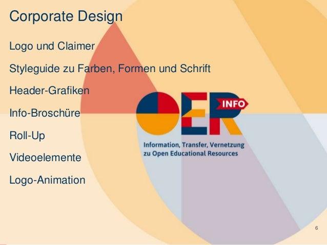 Corporate Design Logo und Claimer Styleguide zu Farben, Formen und Schrift Header-Grafiken Info-Broschüre Roll-Up Videoele...