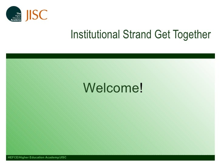 Institutional Strand Get Together 12 February 2010 Welcome !