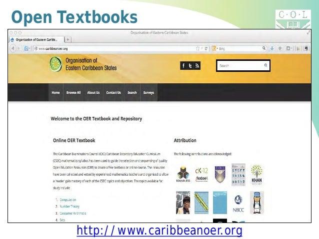 Open Textbooks http://www.caribbeanoer.org