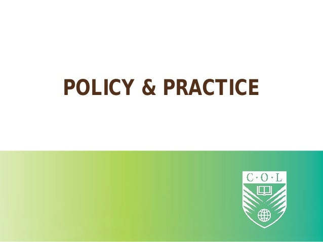 POLICY & PRACTICE