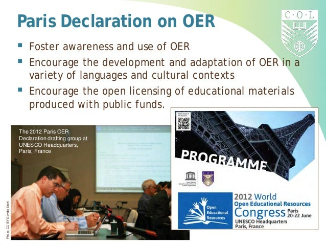 Photo:CC-BYDavideStorti The 2012 Paris OER Declaration drafting group at UNESCO Headquarters, Paris, France Paris Declarat...