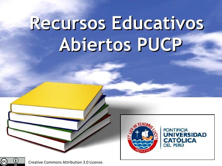 Recursos Educativos Abiertos PUCP