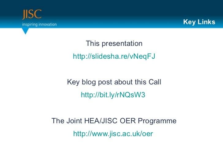 Key Links <ul><li>This presentation </li></ul><ul><li>http://slidesha.re/vNeqFJ   </li></ul><ul><li>Key blog post about th...