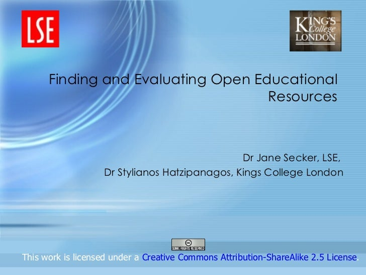 Finding and Evaluating Open Educational                                    Resources                                      ...
