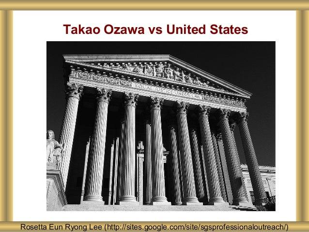 Rosetta Eun Ryong Lee (http://sites.google.com/site/sgsprofessionaloutreach/) Takao Ozawa vs United States