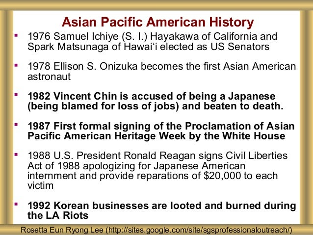 Asian Pacific American History Rosetta Eun Ryong Lee (http://sites.google.com/site/sgsprofessionaloutreach/)  1976 Samuel...