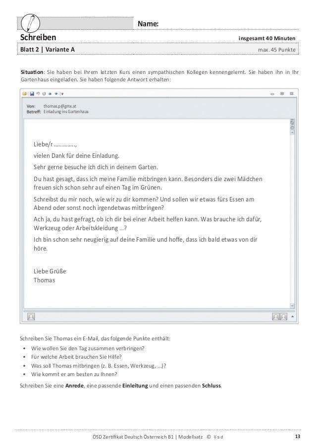 E mail zum kennenlernen