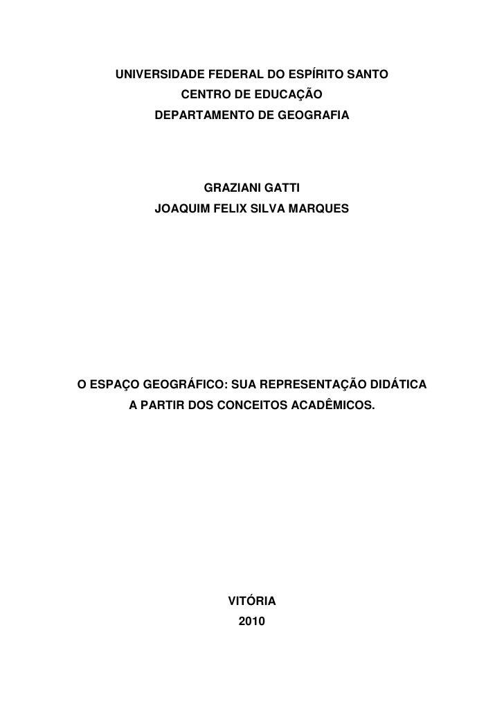1         UNIVERSIDADE FEDERAL DO ESPÍRITO SANTO                       CENTRO DE EDUCAÇÃO                 DEPARTAMENTO DE ...