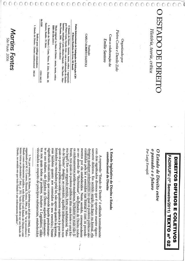 O estado de direito   luigi ferrajoli